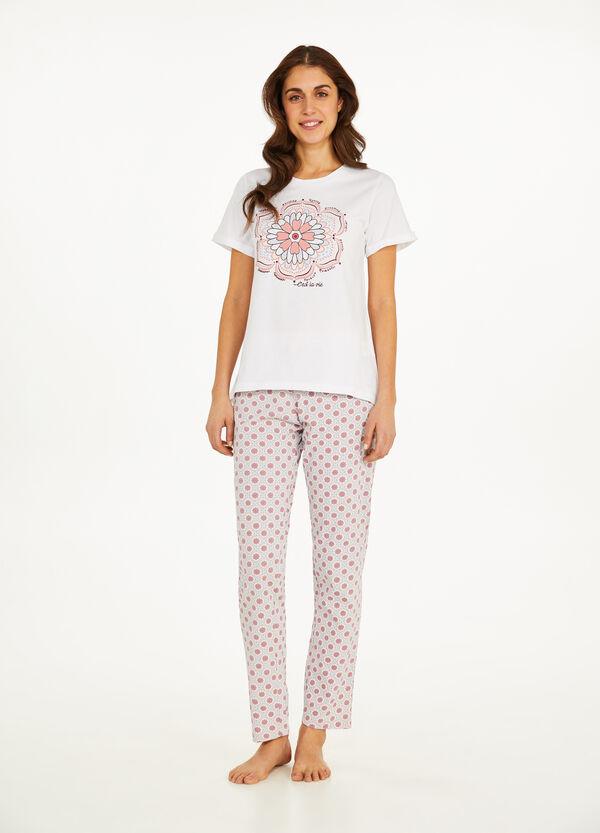 Pyjama aus reiner Baumwolle Blumenmuster