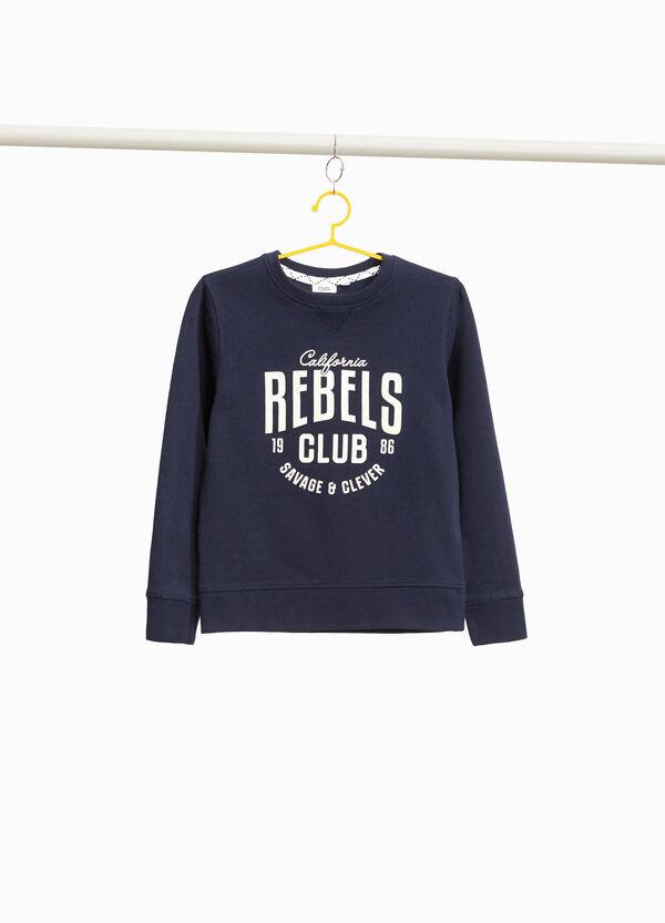 Sweatshirt reine Baumwolle Buchstabenaufdruck