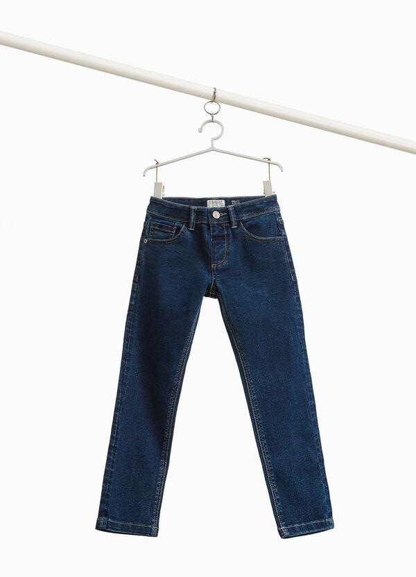 Einfarbige Stretch-Jeans Slim Fit
