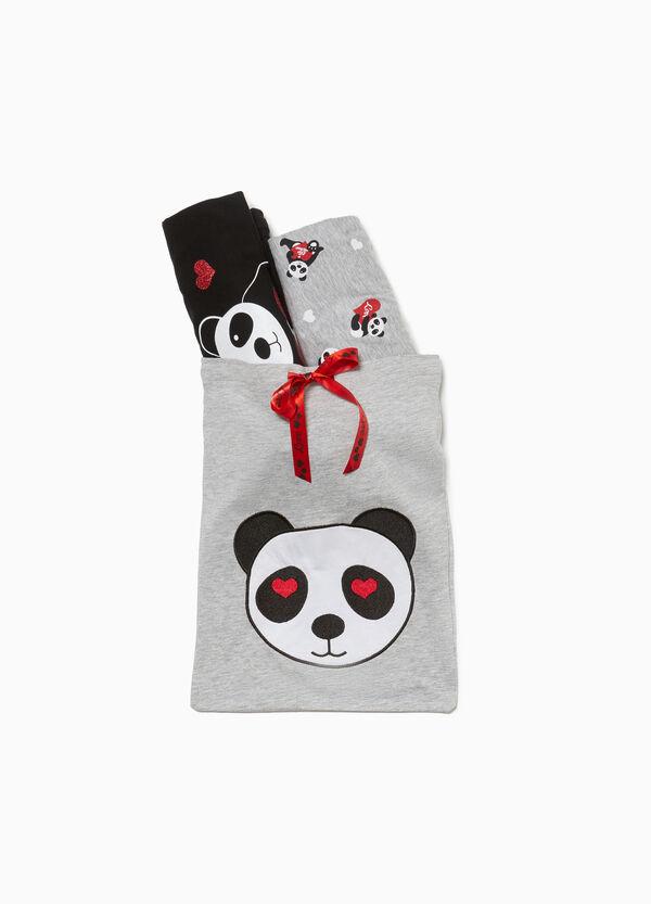Pyjama Baumwolle und Viskose Panda