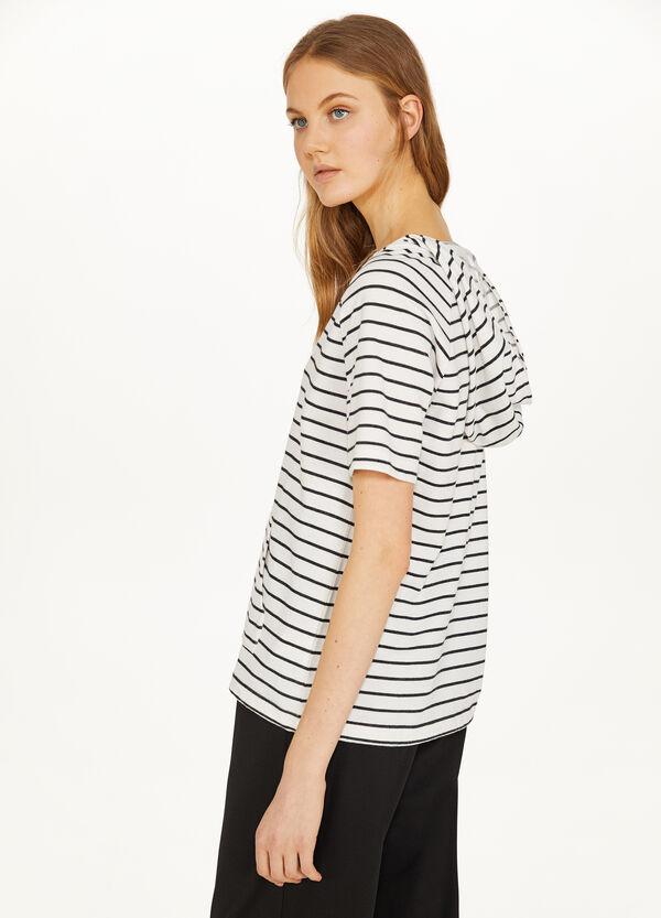 T-Shirt Baumwollmix Bauchtasche