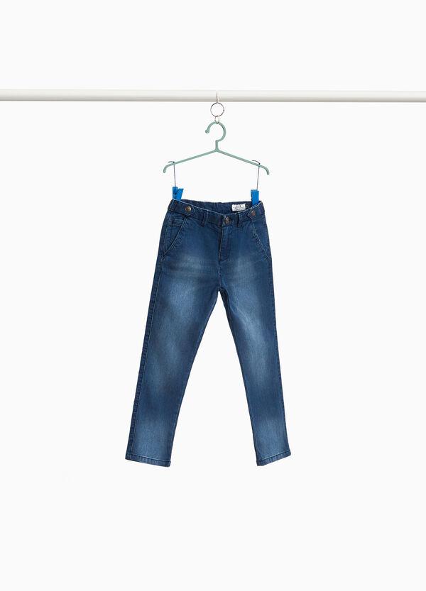 Stretch-Jeans Washed-out mit entfärbter Optik