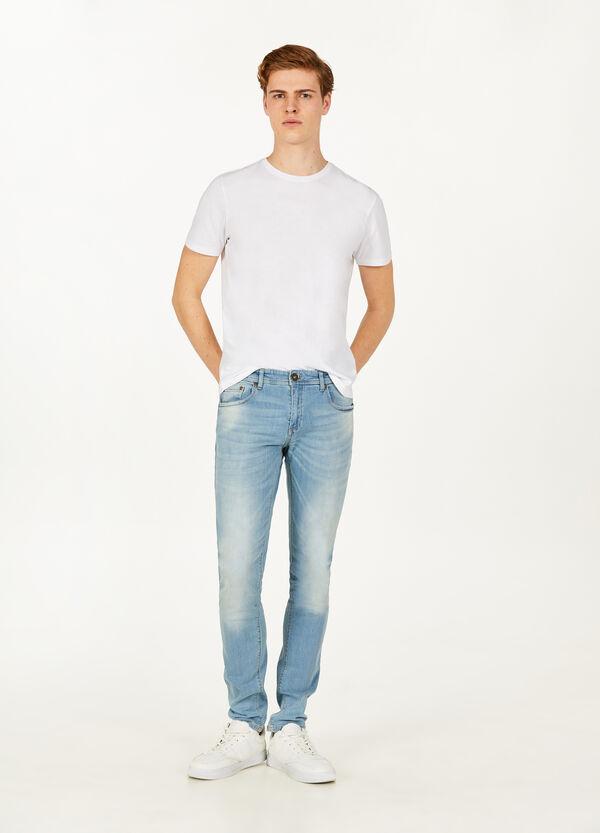 Jeans Skinny Fit mit Used-Effekt