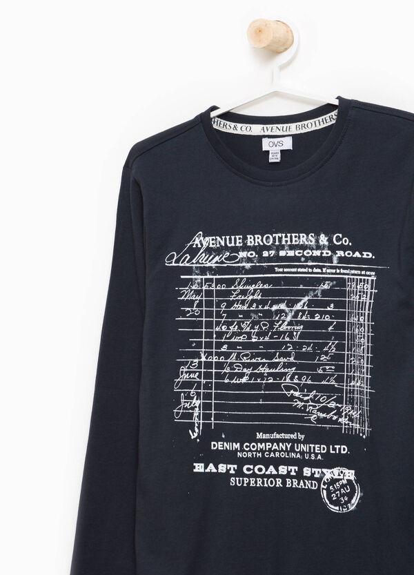 T-Shirt reine Baumwolle Aufdruck Musiknoten | OVS
