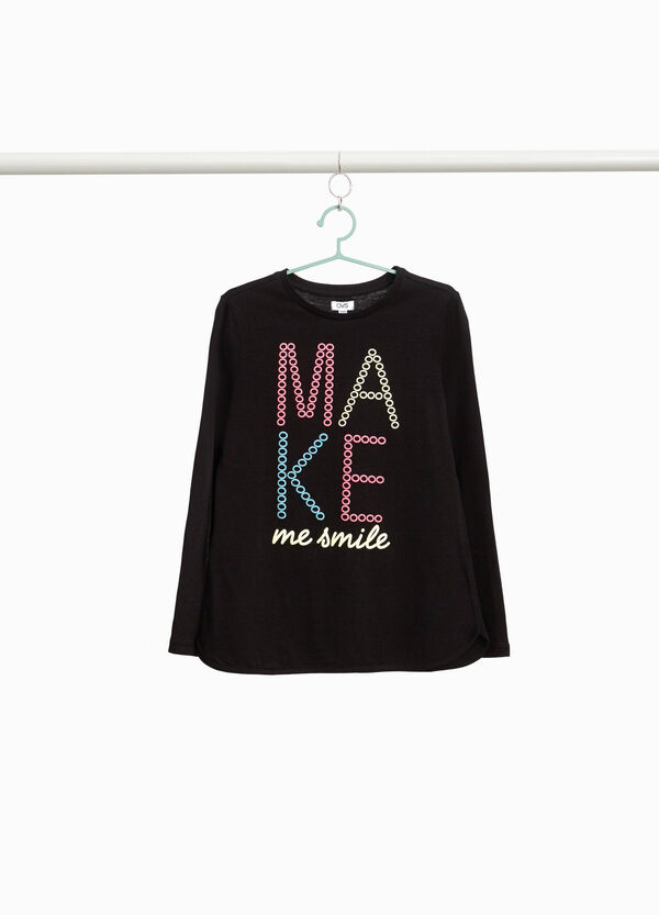 T-Shirt Aufdruck Lettering reine Baumwolle