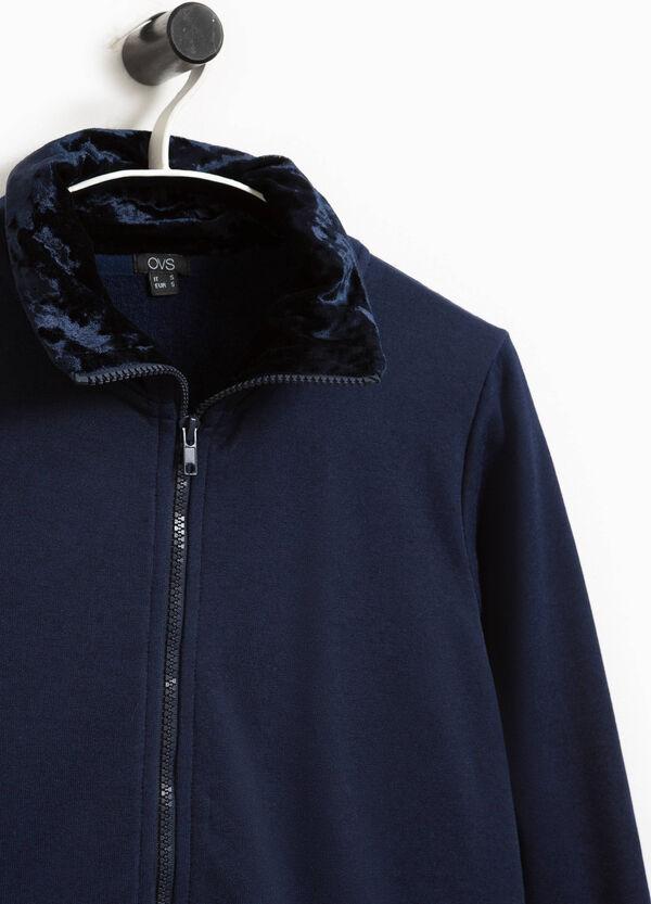 Sweatshirt Baumwoll-Mix mit Reißverschluss | OVS