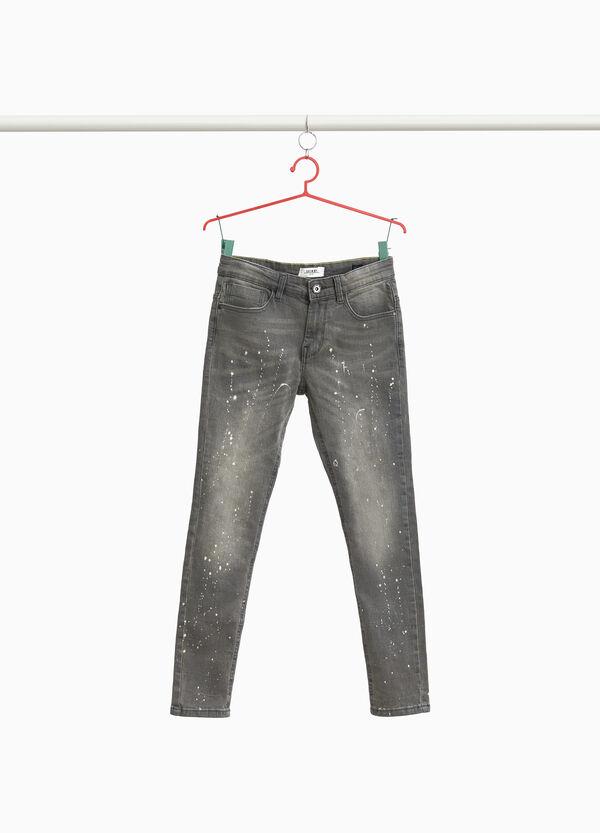 Jeans Skinny Fit Farbklekse