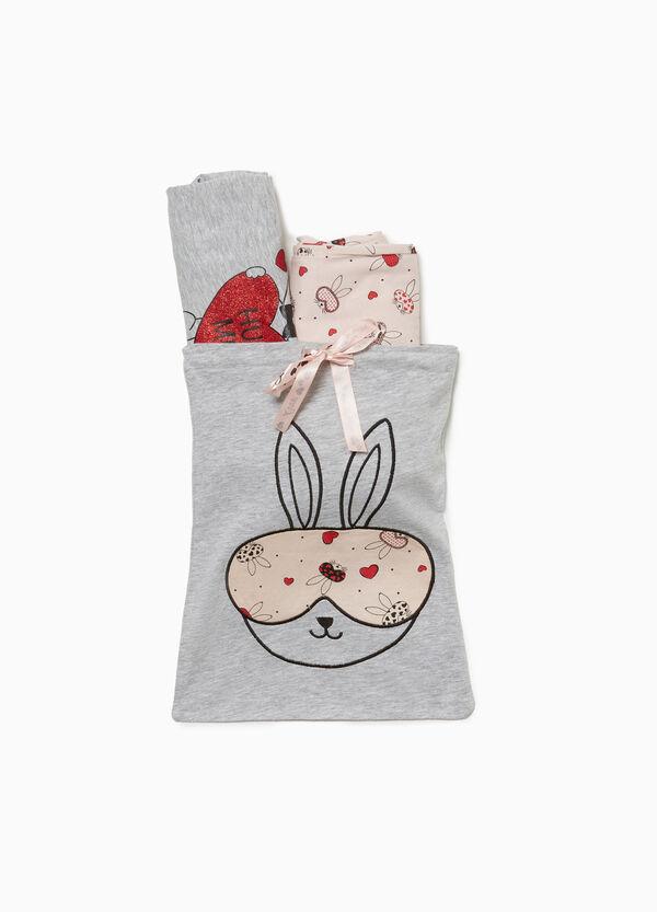 Pyjama Baumwolle und Viskose Kaninchen