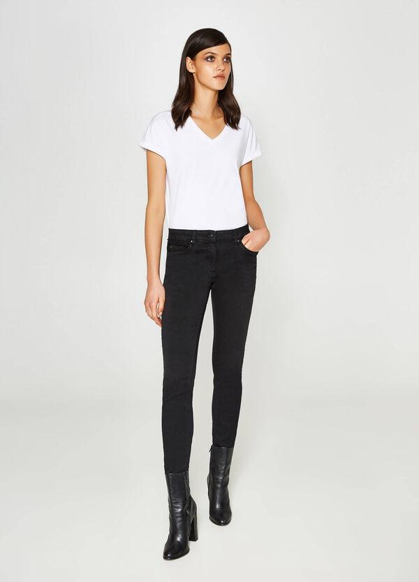 Stretch-Jeans Slim Fit mit Spitze | OVS