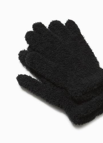 Handschuhe aus Teddy-Stretch