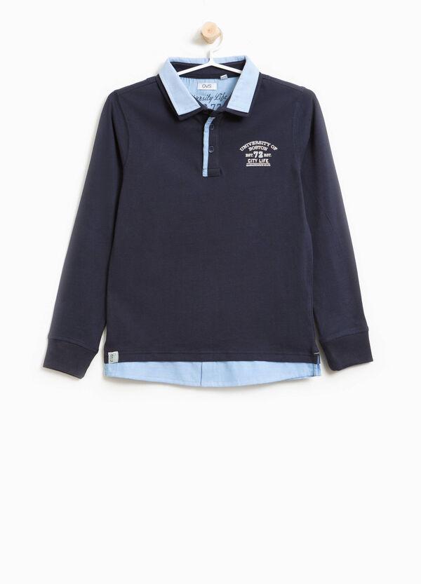 Polo-Shirt reine Baumwolle Aufdruck Lettering | OVS