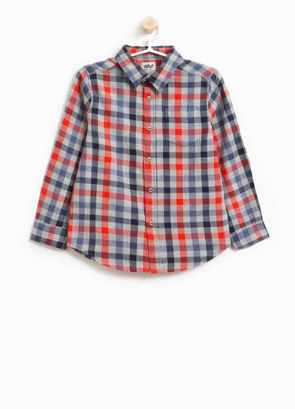 Hemd aus reiner Baumwolle im Karomuster | OVS