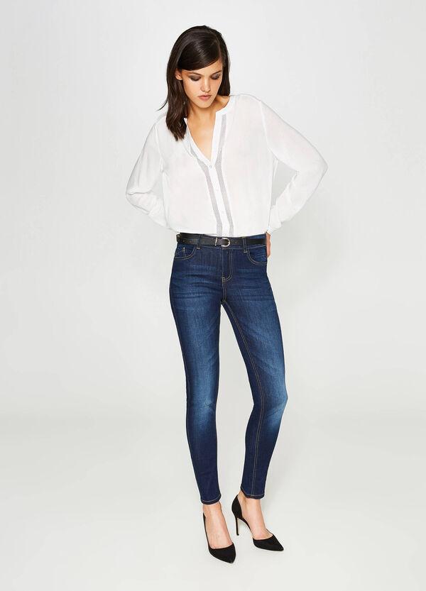 Ausgewaschene Stretch-Jeans Skinny Fit | OVS
