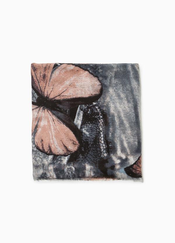Schal Effekt-Färbung Muster Schmetterlinge