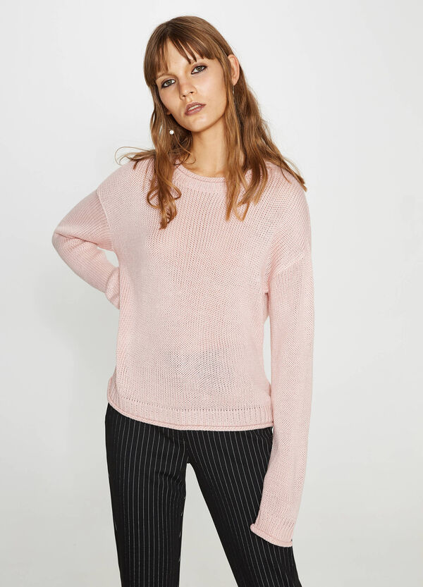 Pullover Trikot mit Rollsaum | OVS