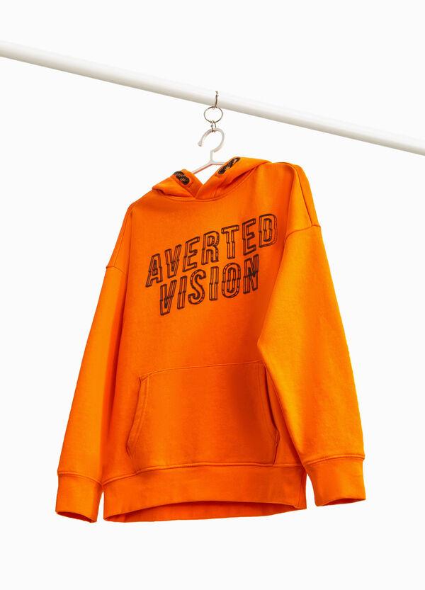 Sweatshirt Baumwoll-Mix Aufdruck Lettering