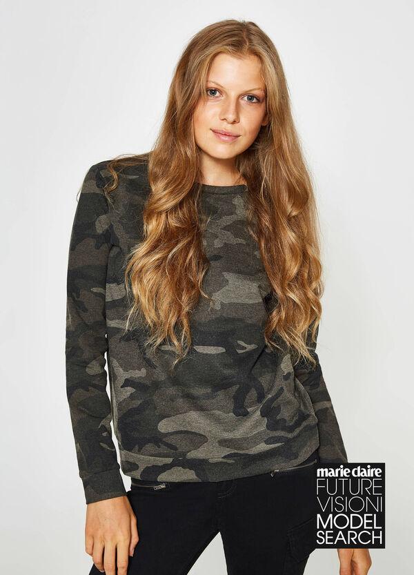 Sweatshirt reine Baumwolle bedruckt