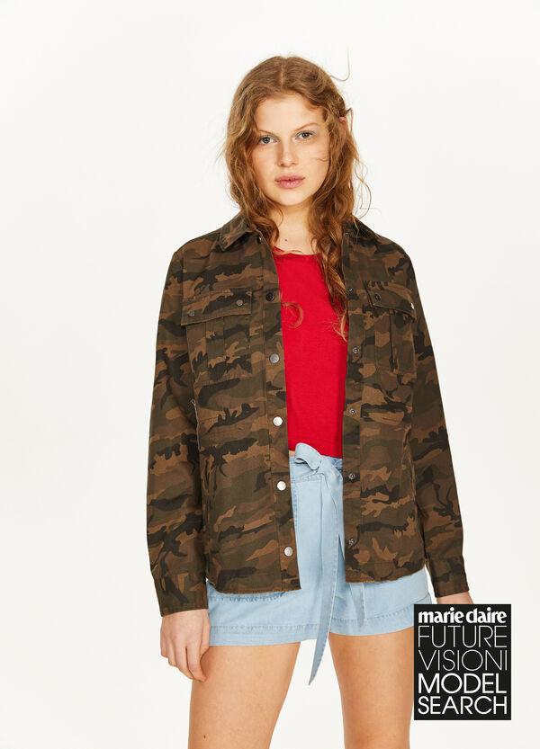 Blouson reine Baumwolle Camouflage