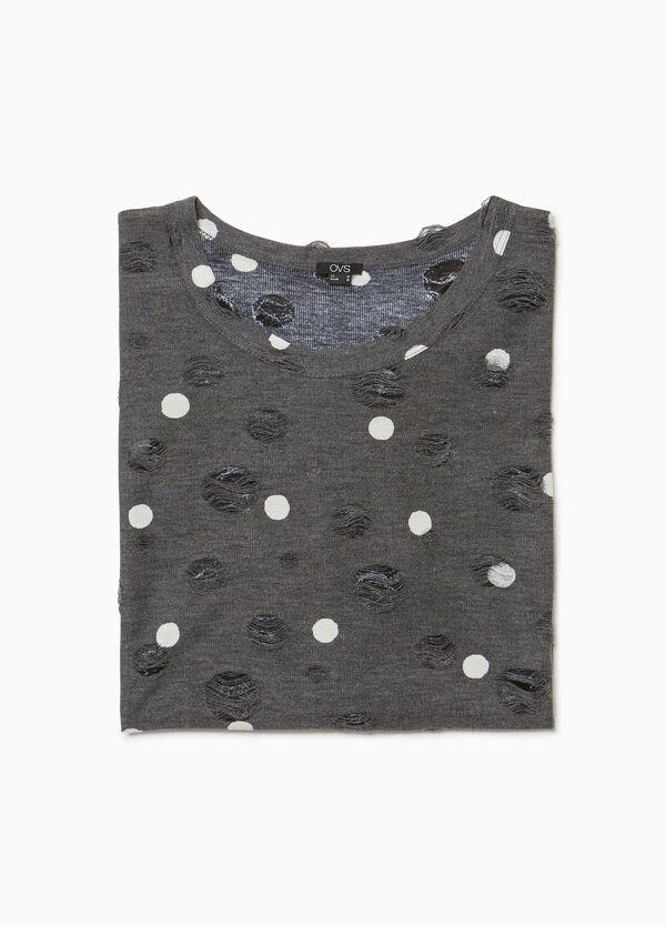 Kleid getupft mit Destroyed-Stellen Smart Basic