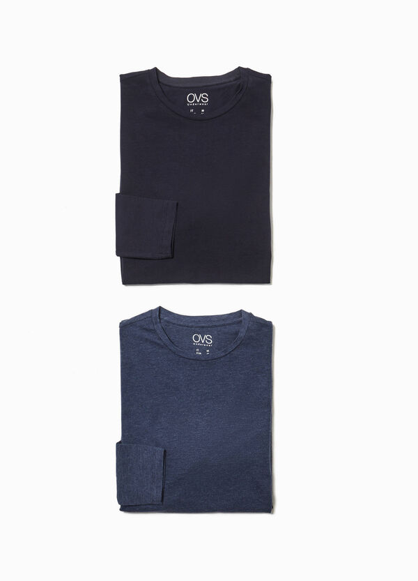 Set zwei Pyjama-Shirts aus Baumwollstretch