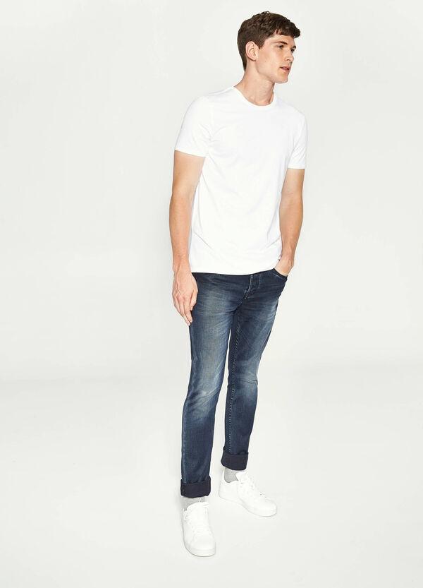 Stretch-Jeans Skinny Fit entfärbte Optik | OVS