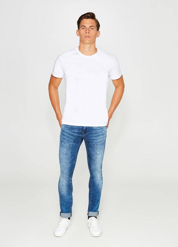 Stretch-Jeans Skinny Fit mit Used-Effekt | OVS
