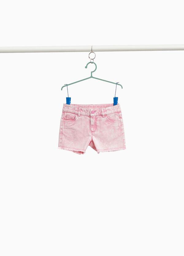 Shorts Baumwollstretch Effekt-Färbung