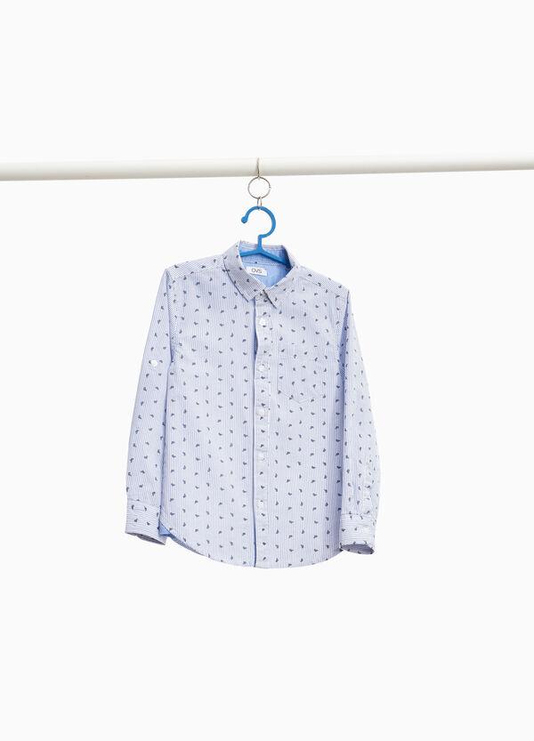 Hemd Baumwolle mit Streifenprint