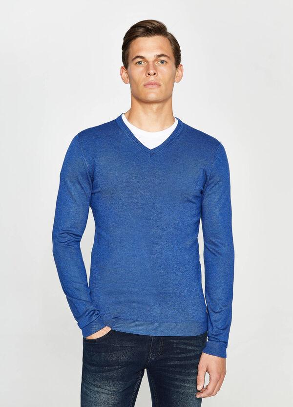 Pullover aus Viskose mit V-Ausschnitt