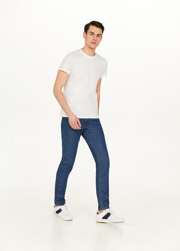 Einfarbige Jeans Slim Fit