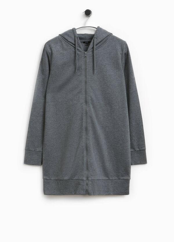 Langes Sweatshirt mit Kapuze Smart Basic | OVS