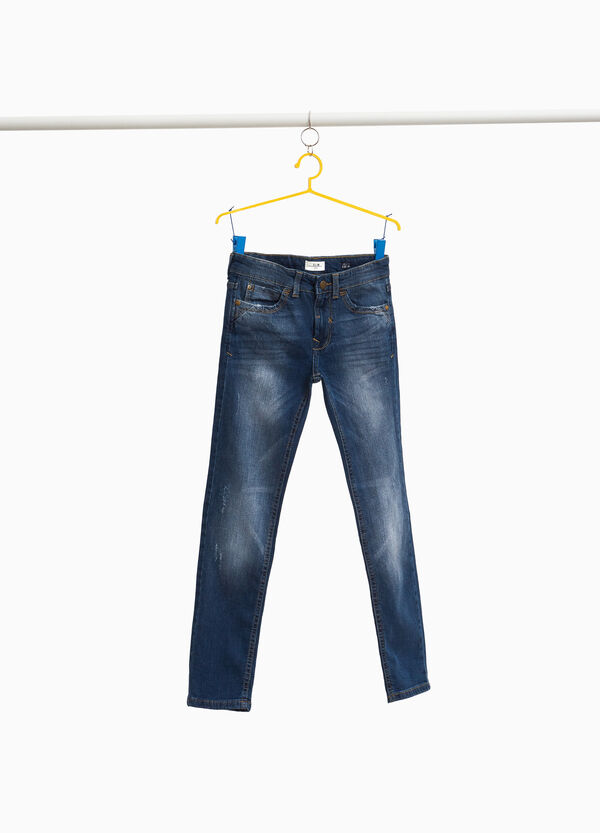 Stretch-Jeans Slim Fit mit Used-Effekt