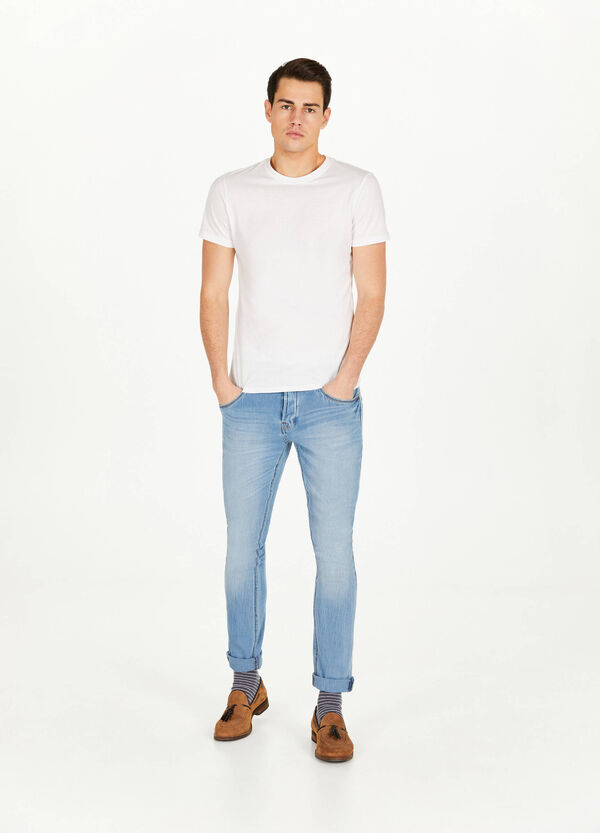 Stretch-Jeans Skinny Fit mit Whiskering