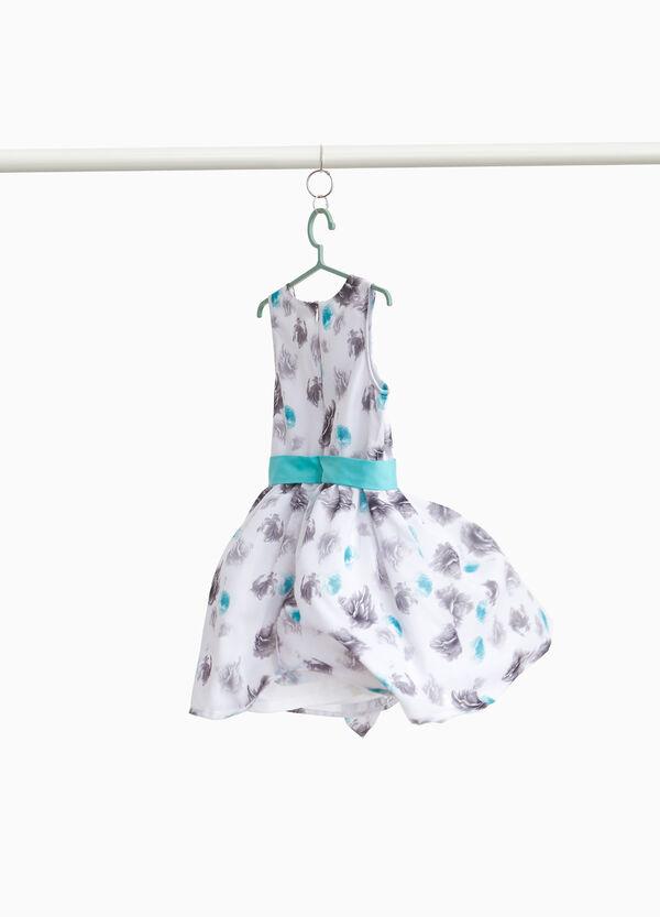Ärmelloses Kleidchen floral mit Volant