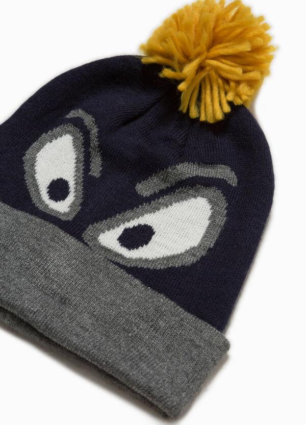 Mütze mit Bommel und Stickerei | OVS