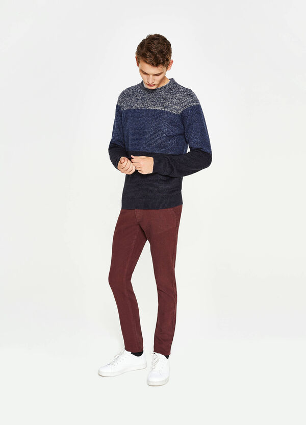 Trikot-Pullover mit Streifenmuster | OVS