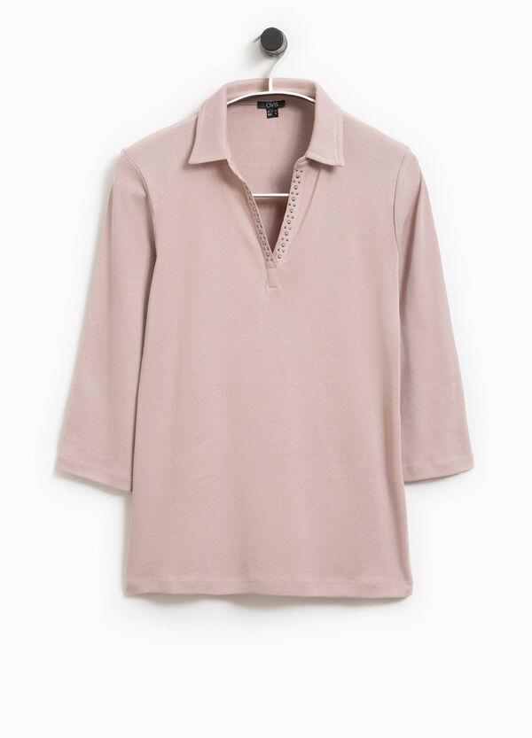 Polo-Shirt aus Baumwolle mit Nieten Smart Basic | OVS