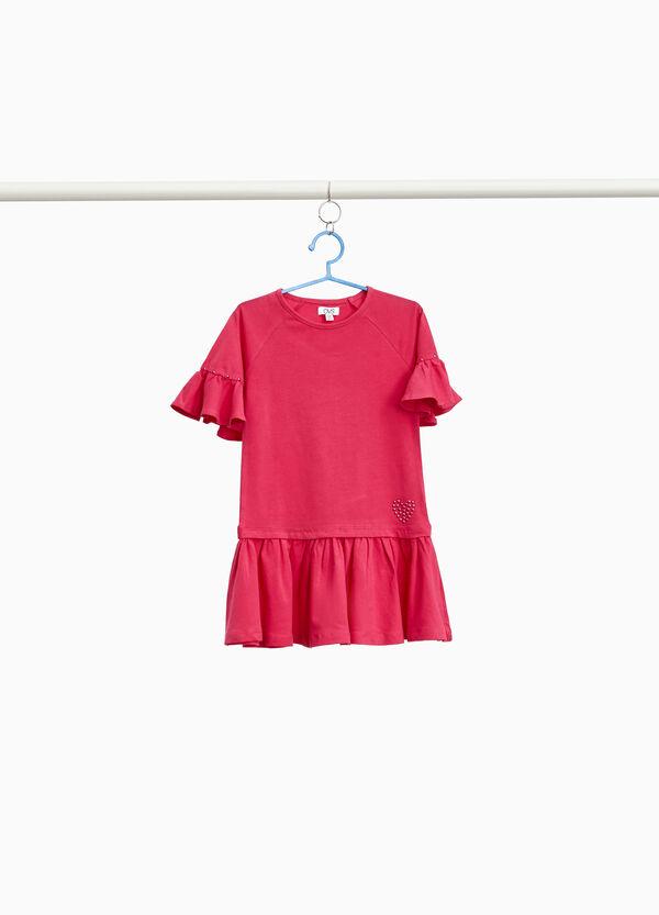 Kleidchen Baumwollstretch mit Volant