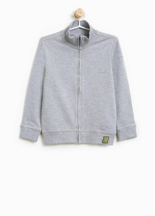 Sweatshirt aus Baumwolle mit Reißverschluss | OVS