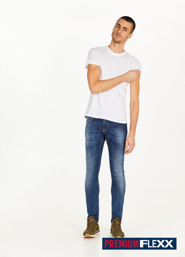 Stretch-Jeans Slim Fit Used-Effekt Whiskering