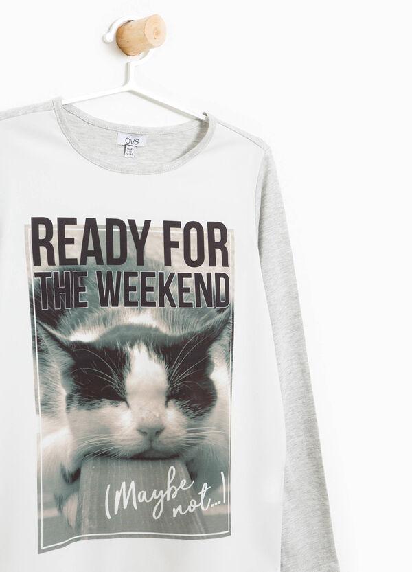 T-Shirt aus Baumwolle mit Maxi-Aufdruck | OVS