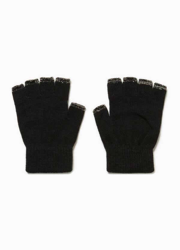Fingerlose Handschuhe mit Lurex | OVS