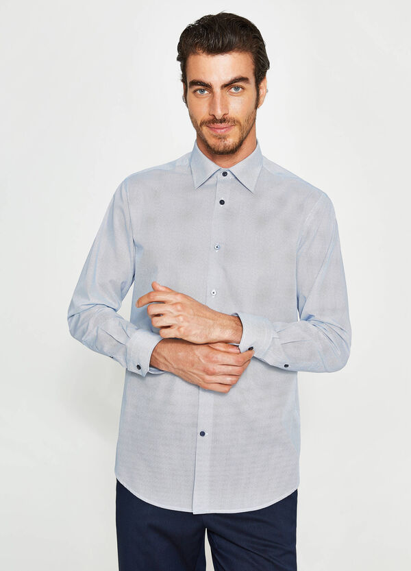 Formales Hemd Regular Fit Baumwolle Tupfen | OVS