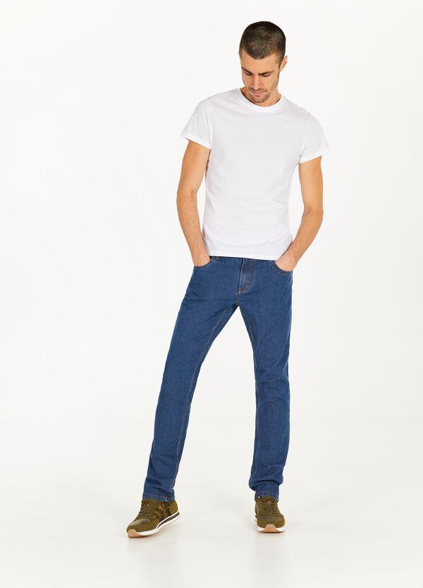 Stretch-Jeans Streifenstruktur