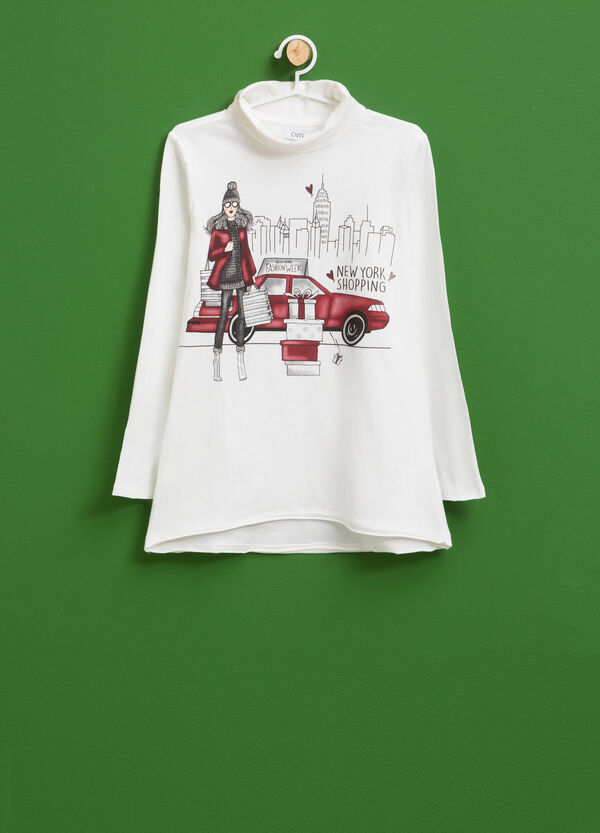 Rolli Baumwollstretch mit Print | OVS