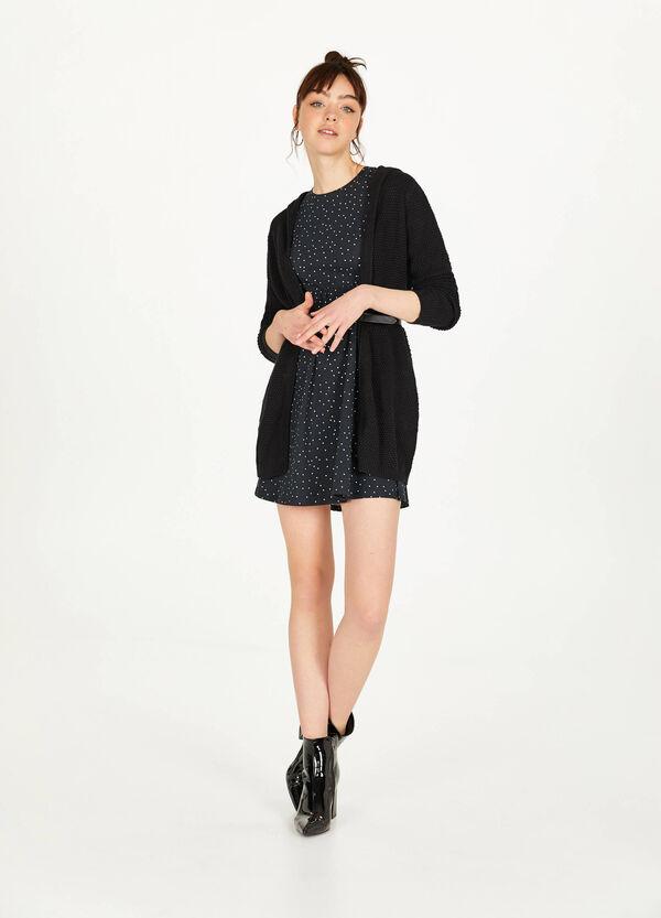 Kleid Baumwollstretch mit Falten