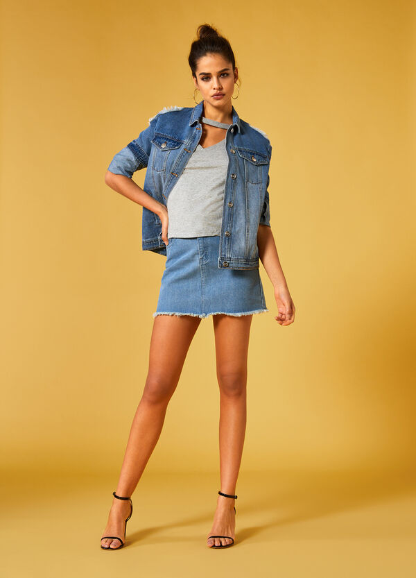 Jeans-Minirock K+K for OVS