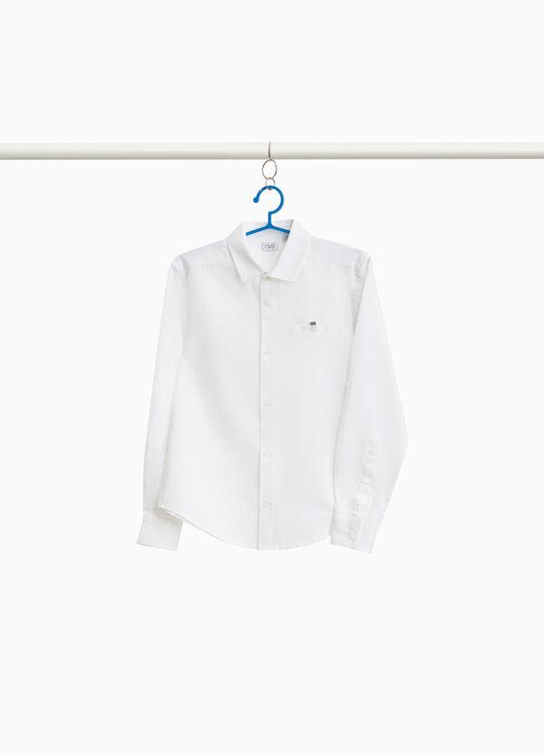 Hemd aus reiner Baumwolle mit Tasche