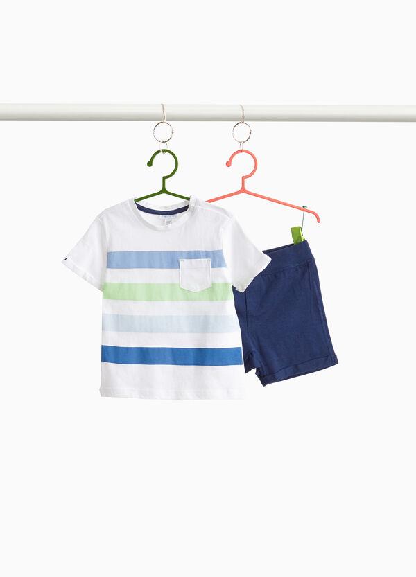 Garnitur Baumwolle T-Shirt und kurze Hose