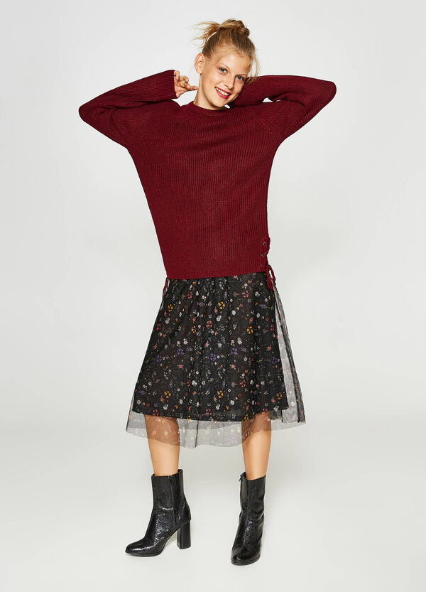 Pullover Trikot-Verarbeitung mit Schnürbändern | OVS